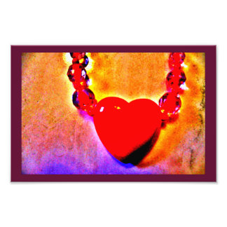 Red Heart Necklace Photo Print