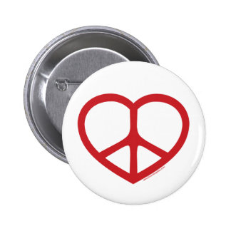 Red Heart of Love, Peace Sign Pins