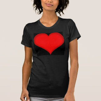red_heart_on_black_field T-Shirt