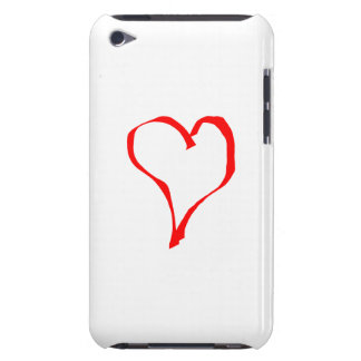 Red Heart on White. Barely There iPod Cases