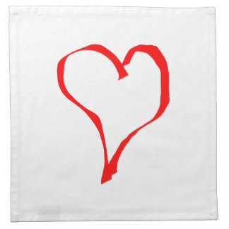 Red Heart on White. Napkin