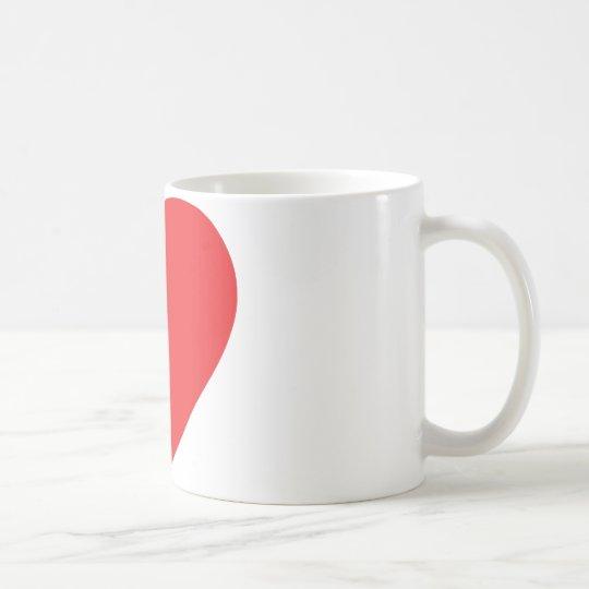 red heart one coffee mug