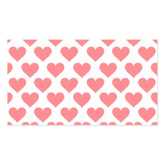 Red Heart Pattern Business Card Template