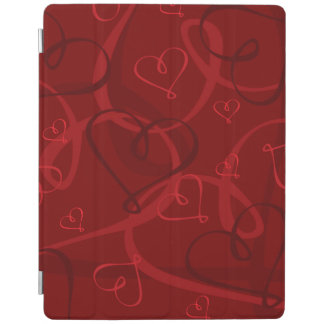 Red heart pattern iPad cover