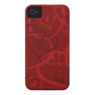 Red heart pattern iPhone 4 case