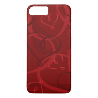 Red heart pattern iPhone 8 plus/7 plus case