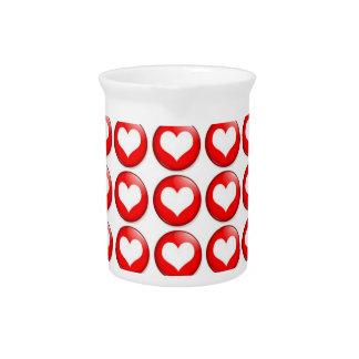 Red Heart Pattern  Pitcher