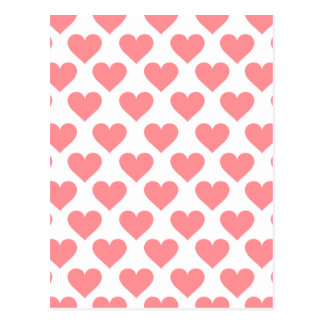 Red Heart Pattern Post Cards