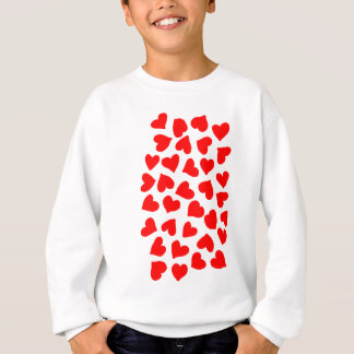 Red Heart Pattern Sweatshirt