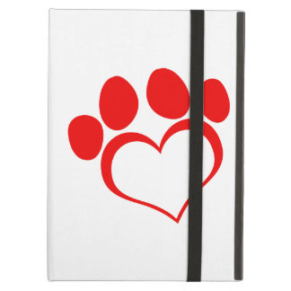 Red Heart Paw Print iPad Air Case