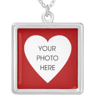 Red Heart Photo Frame Pendants