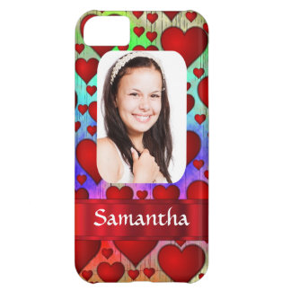 Red heart photo template iPhone 5C case