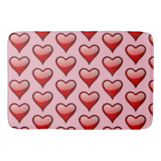 Red Heart Pink Large Bath Mat