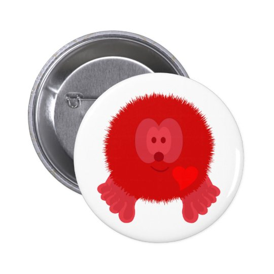Red Heart Pom Pom Pal Button