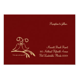 Red Heart Reception Personalized Announcement
