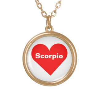 Red Heart Scorpio Necklace