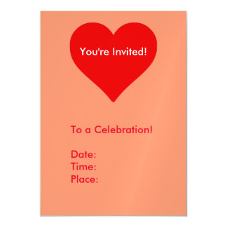 Red Heart Shape Love You Valentine Magnetic Invitations