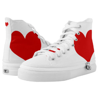 Red Heart Shoes Printed Shoes