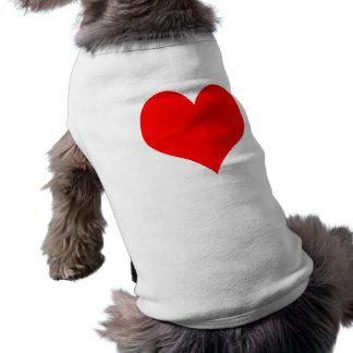 Red Heart Sleeveless Dog Shirt