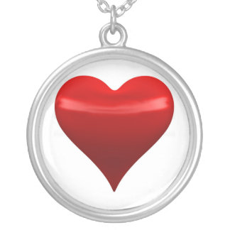 Red Heart Sterling Silver Necklace
