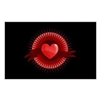 Red heart symbol posters