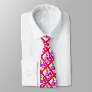 red heart-tail mermaid Thunder_Cove Tie