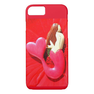 red heart-tailed mermaid iPhone 7 case