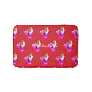 red heart-tailed mermaid Thunder_Cove Bath Mat