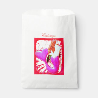 red heart-tailed mermaid Thunder_Cove Favour Bags