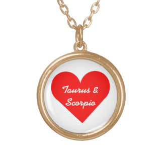 Red Heart Taurus & Scorpio Necklace