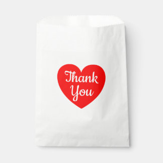 Red Heart Thank You Wedding, Party, Bridal Shower Favour Bags
