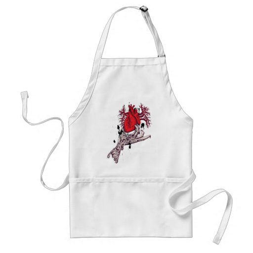 Red Heart ~ Torn Heart In Hand Fantasy Art Apron