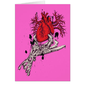 Red Heart ~ Torn Heart In Hand Fantasy Art Stationery Note Card