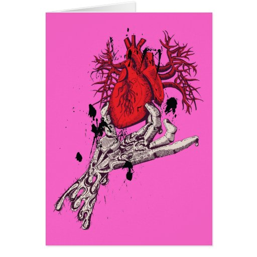Red Heart ~ Torn Heart In Hand Fantasy Art Card