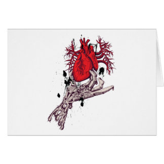 Red Heart ~ Torn Heart In Hand Fantasy Art Greeting Card