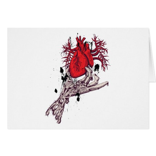 Red Heart ~ Torn Heart In Hand Fantasy Art Cards