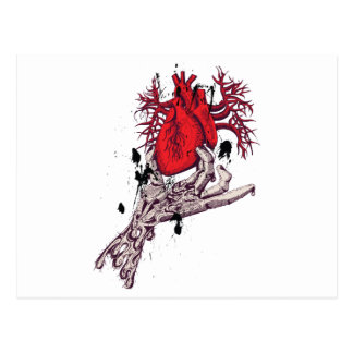 Red Heart Torn Heart In Hand Fantasy Art Postcard