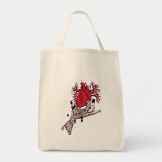 Red Heart ~ Torn Heart In Hand Fantasy Art Tote Bags