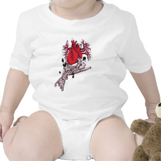 Red Heart ~ Torn Heart In Hand Fantasy Art Tee Shirts