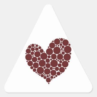 Red Heart Triangle Sticker