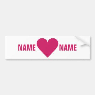 Red Heart Valentine custom bumpersticker Bumper Sticker