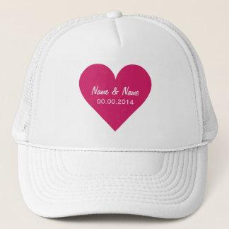 Red Heart Valentine custom hats