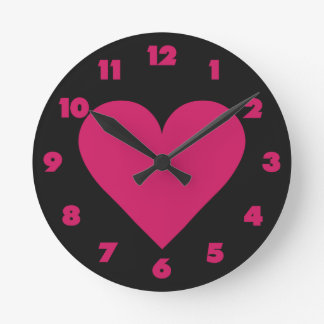 Red Heart Valentine custom wall clocks