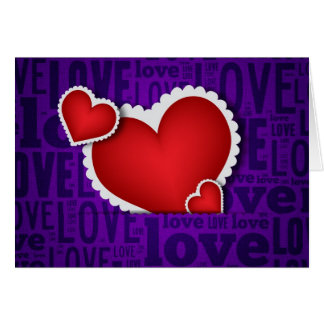 Red heart valentine s day greeting card
