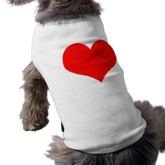 Red Heart Valentines Day Design Sleeveless Dog Shirt