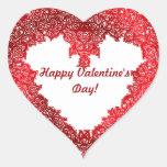 Red heart Valentine's day Heart Sticker