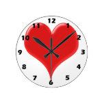 Red Heart Wallclock