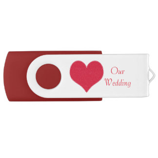 Red Heart Wedding USB Drive