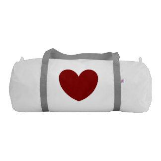 red heart/ white custom made gym bag gym duffel bag