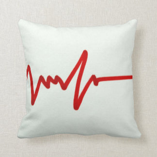 Red Heartbeat - Funny Gift Throw Pillow